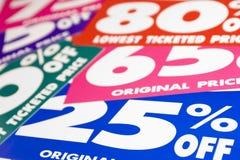 De Prijzen van de verkoop Stock Afbeeldingen