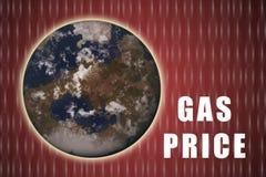 De Prijzen van het gas Royalty-vrije Stock Afbeelding