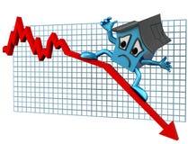 De prijzen van het huis neer stock illustratie