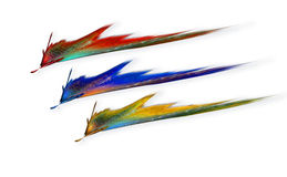 De primaire Flitsen van de Kleur Stock Afbeeldingen
