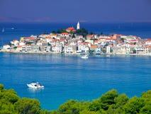 Stad Primosten in Kroatië Stock Foto
