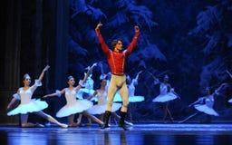 De prince d'hospitalité-Le l'acte d'abord du quatrième pays de neige de champ - le casse-noix de ballet Images libres de droits