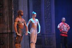 De prins en de Prinses van India het het suikergoedkoninkrijk van het tweede handelings tweede gebied - de Balletnotekraker Stock Afbeeldingen