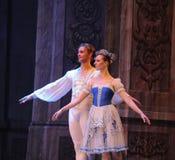 De prins en de Prinses van Rusland het het suikergoedkoninkrijk van het tweede handelings tweede gebied - de Balletnotekraker Stock Foto