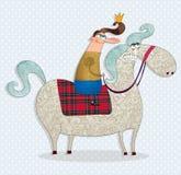 De prins op een wit paard Stock Fotografie