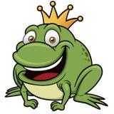 De prins van de beeldverhaalkikker Stock Afbeeldingen