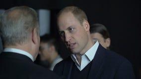 De prins William, Hertog van Cambridge, komt Al Gore Vice-President van de Verenigde Staten samen stock footage