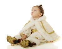 De Prinses Awed van de sneeuw Stock Afbeeldingen