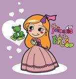 De prinses en de Kikker Stock Foto's