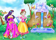 De prinses van het sprookje Stock Foto's