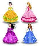 De prinsessen van de sprookjepop Stock Afbeeldingen