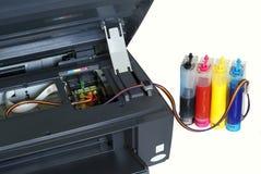 De printer en het systeem van voer van inkt Royalty-vrije Stock Fotografie