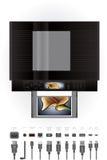 De Printer/het Fotokopieerapparaat van Inkjet van het bureau Royalty-vrije Stock Fotografie