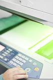De printer van de fax Stock Foto's