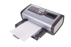 De printer van Inkjet die op een wit wordt geïsoleerdi Stock Foto's