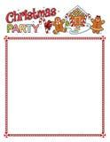 De printout van de Kerstmispartij met grens Stock Afbeeldingen