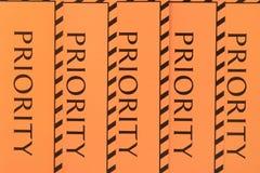 De prioriteit van het etiket Royalty-vrije Stock Afbeeldingen