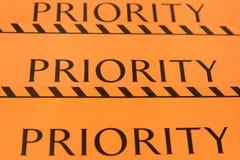 De prioriteit van het etiket voor bagage Royalty-vrije Stock Afbeelding
