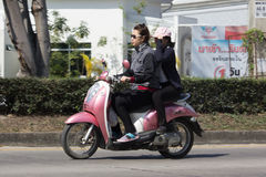 De privé Automatische Autoped Scoopy i van Honda Motorfiets Royalty-vrije Stock Afbeeldingen