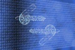 De privé & openbare die sleutels van kringen met leds, encryptie worden gemaakt bedriegen Royalty-vrije Stock Afbeelding