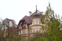 De privé woonplaats in Karlovy varieert Stock Fotografie