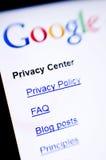 De privacy van Google stock afbeelding