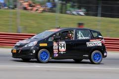 De pro Geschikte raceauto van Honda op het spoor Stock Afbeelding