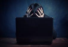 De problemen van de computer Stock Foto's