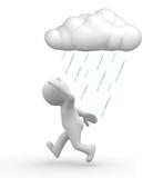 De problemen van de regen Stock Foto's