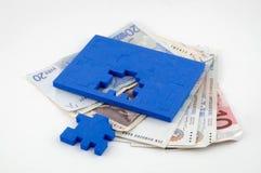 De Problemen van het geld Stock Foto's