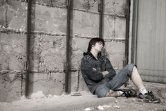 De problemen van tienerjaren Stock Foto