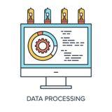 De processo de dados Foto de Stock Royalty Free