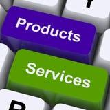 De producten en de de Dienstensleutels tonen online het Verkopen en het Kopen stock fotografie
