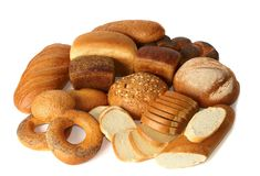 De producten van de bakkerij Stock Foto