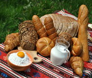 De producten van de bakkerij Stock Fotografie