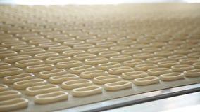 De producten van de bakkerij Ongezuurde broodjes stock videobeelden