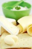 De producten van de kaas royalty-vrije stock foto's