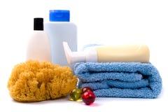 De producten van de lichaamsverzorging Stock Foto's