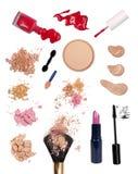De producten van de make-up
