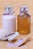 De producten van de schoonheid met Kristallen Stock Fotografie