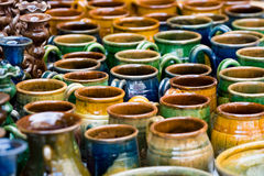 De producten van het aardewerk Stock Foto's