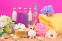 De Producten van het bad Stock Foto's