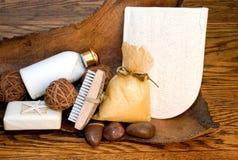 De Producten van het bad Stock Afbeeldingen