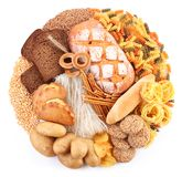 De producten van het brood en van de bakkerij royalty-vrije stock afbeeldingen