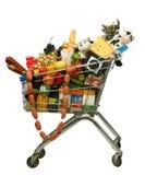 De producten van het karretje Stock Afbeeldingen