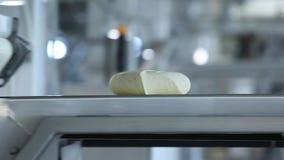 De productie van bakkerijproducten stock videobeelden