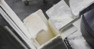 De productie van de bakkerijtransportband stock videobeelden