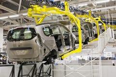 De productie van de auto stock afbeelding
