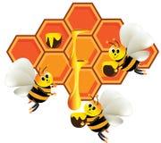 De productie van de honing royalty-vrije stock fotografie