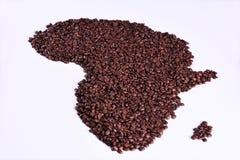 De productie van de koffie, Afrika Stock Foto's